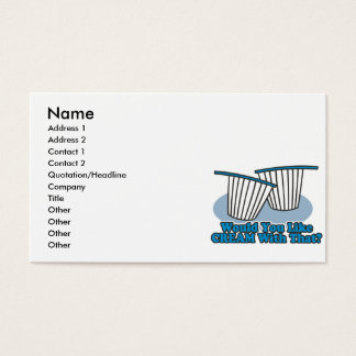 would you like cream with that business card