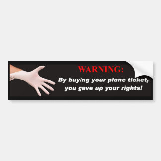 Would You Like Rights With That Ticket? Bumper Sticker