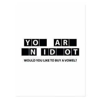 Would You Like To Buy A Vowel? Postcard