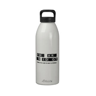 Would You Like To Buy A Vowel? Drinking Bottle