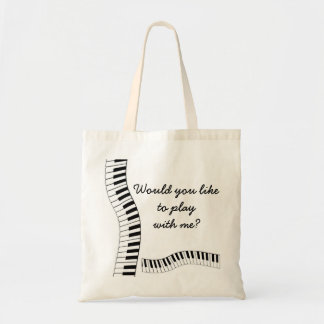 Would you liketo play with me? tote bag