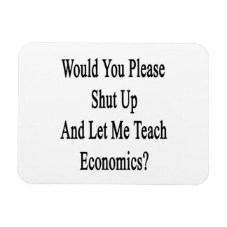 Would You Please Shut Up And Let Me Teach Economic Flexible Magnets