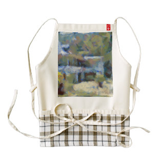 Would you stay here zazzle HEART apron
