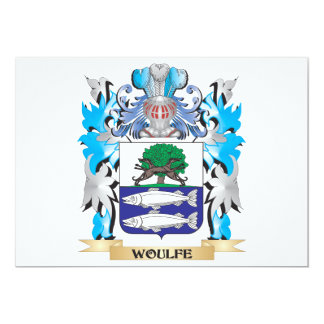 Woulfe Coat of Arms - Family Crest 5x7 Paper Invitation Card