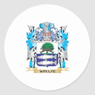 Woulfe Coat of Arms - Family Crest Classic Round Sticker