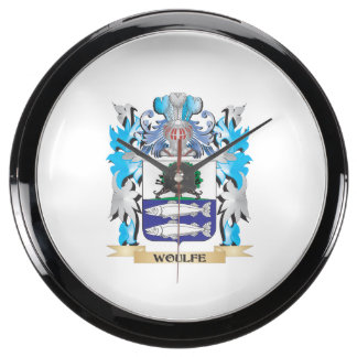 Woulfe Coat of Arms - Family Crest Fish Tank Clocks