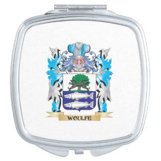 Woulfe Coat of Arms - Family Crest Mirrors For Makeup