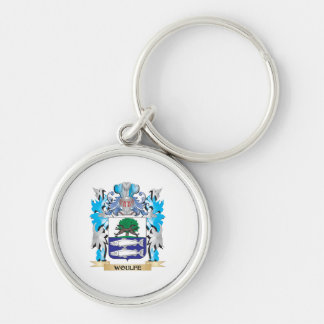Woulfe Coat of Arms - Family Crest Silver-Colored Round Keychain