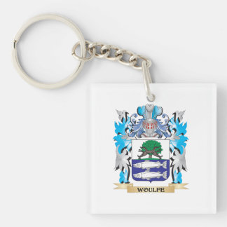Woulfe Coat of Arms - Family Crest Single-Sided Square Acrylic Keychain
