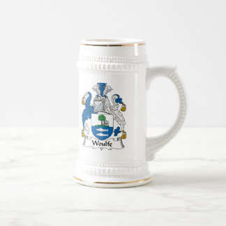 Woulfe Family Crest 18 Oz Beer Stein