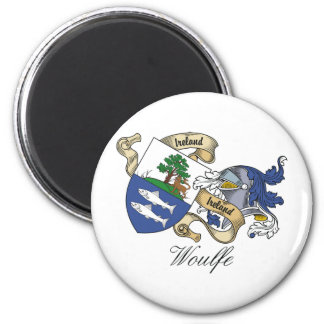 Woulfe Family Crest 2 Inch Round Magnet