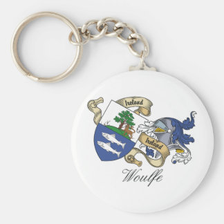 Woulfe Family Crest Basic Round Button Keychain