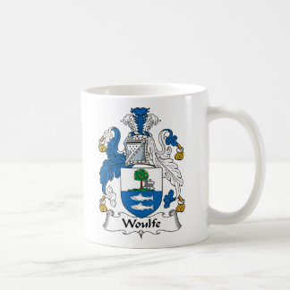 Woulfe Family Crest Classic White Coffee Mug