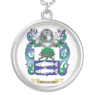 Woulfe Family Crest (Coat of Arms) Round Pendant Necklace