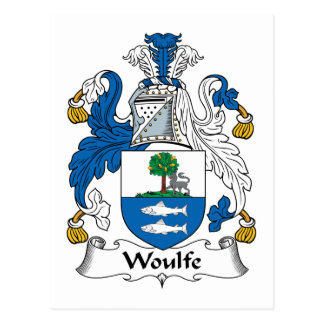 Woulfe Family Crest Postcard