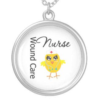 Wound Care Nurse Chick v1 Round Pendant Necklace