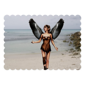 Wounded Angel 5x7 Paper Invitation Card