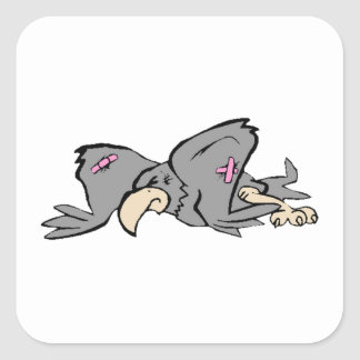 Wounded Bird Square Sticker