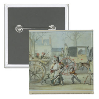 Wounded French Soldiers Entering Paris Pinback Button