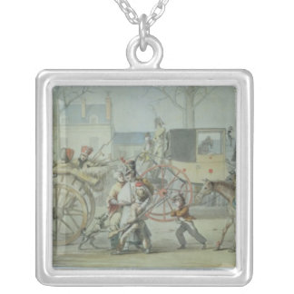 Wounded French Soldiers Entering Paris Silver Plated Necklace