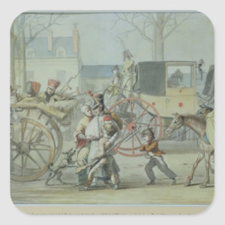 Wounded French Soldiers Entering Paris Sticker