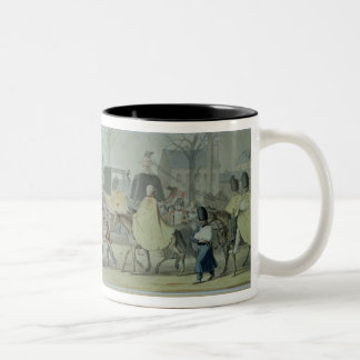 Wounded French Soldiers Entering Paris Two-Tone Coffee Mug