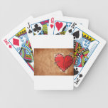 wounded heart bicycle card decks