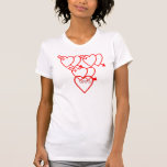 wounded heart t shirts