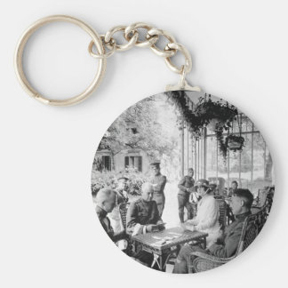 Wounded officers and Mrs. W.E.  Corey, _war image Keychain