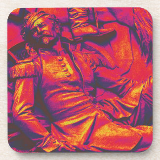 Wounded Prussian Soldier,Red Tint Beverage Coaster