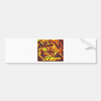 Wounded Prussian Soldier Yellow Tint Bumper Sticker