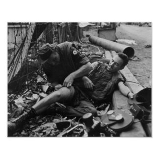 Wounded Soldier Vietnam War 1968 Print