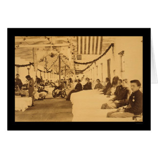 Wounded Soliders in Armory Square Hospital DC 1864 Greeting Cards