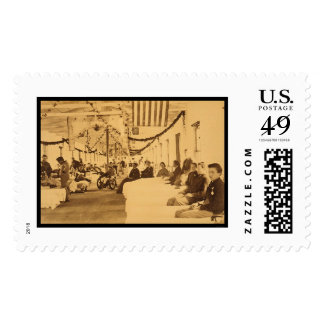 Wounded Soliders in Armory Square Hospital DC 1864 Stamp