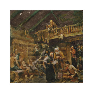 Wounded Vikings from Battle of Stiklestad Canvas Print