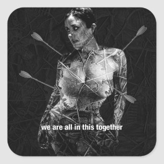 Wounded Woman Stickers