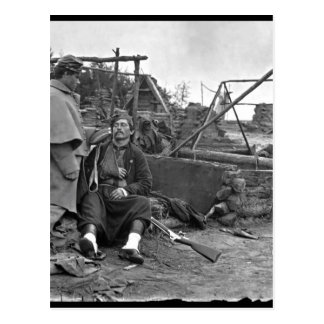 Wounded Zouave.  Mathew Brady Collection_War Image Postcard