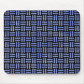 WOVEN1 BLACK MARBLE & BLUE WATERCOLOR MOUSE PAD