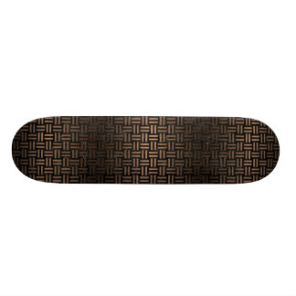 WOVEN1 BLACK MARBLE & BRONZE METAL SKATEBOARD