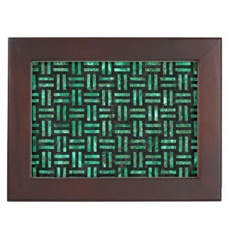 WOVEN1 BLACK MARBLE & GREEN MARBLE MEMORY BOX