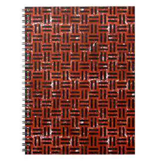 WOVEN1 BLACK MARBLE & RED MARBLE (R) NOTEBOOK