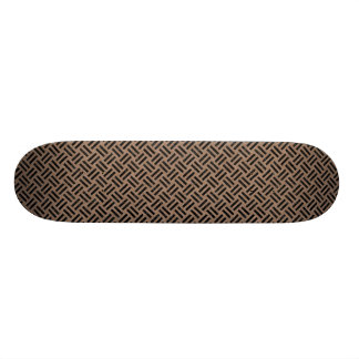 WOVEN2 BLACK MARBLE & BROWN COLORED PENCIL (R) SKATEBOARD DECK