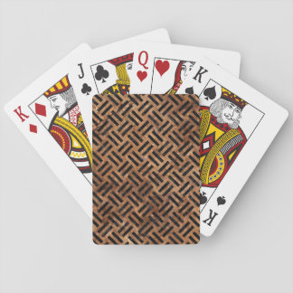 WOVEN2 BLACK MARBLE & BROWN STONE (R) PLAYING CARDS