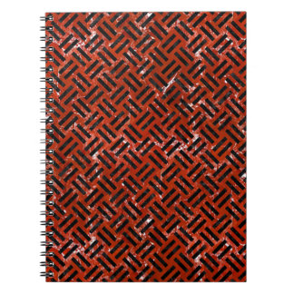 WOVEN2 BLACK MARBLE & RED MARBLE (R) NOTEBOOK