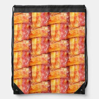 Woven Bacon Drawstring Bag