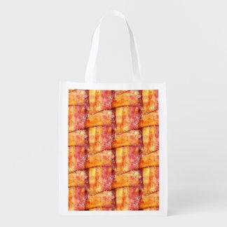 Woven Bacon Reusable Grocery Bag