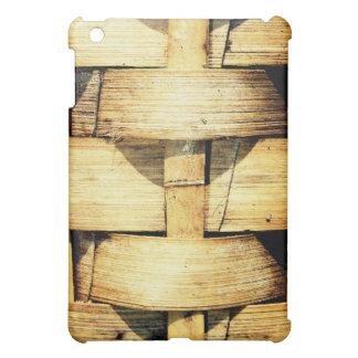 Woven Bamboo Strips - Tiki Torch iPad Mini Cover
