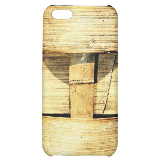Woven Bamboo Strips - Tiki Torch Cover For iPhone 5C