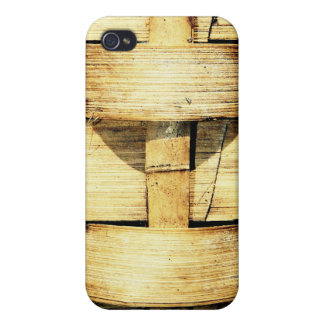 Woven Bamboo Strips - Tiki Torch iPhone 4/4S Case