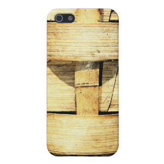 Woven Bamboo Strips - Tiki Torch iPhone SE/5/5s Cover